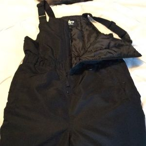 Unisex black bib snow pants Size XL
